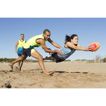 Rugbytrikot ärmellos R500 Herren gelb