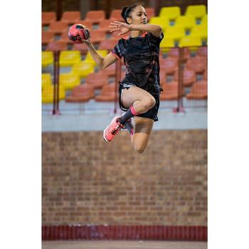 Short de handball H500 femme noir et - 1415342