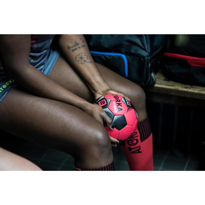 Maillot de handball adulte H500 gris / rose