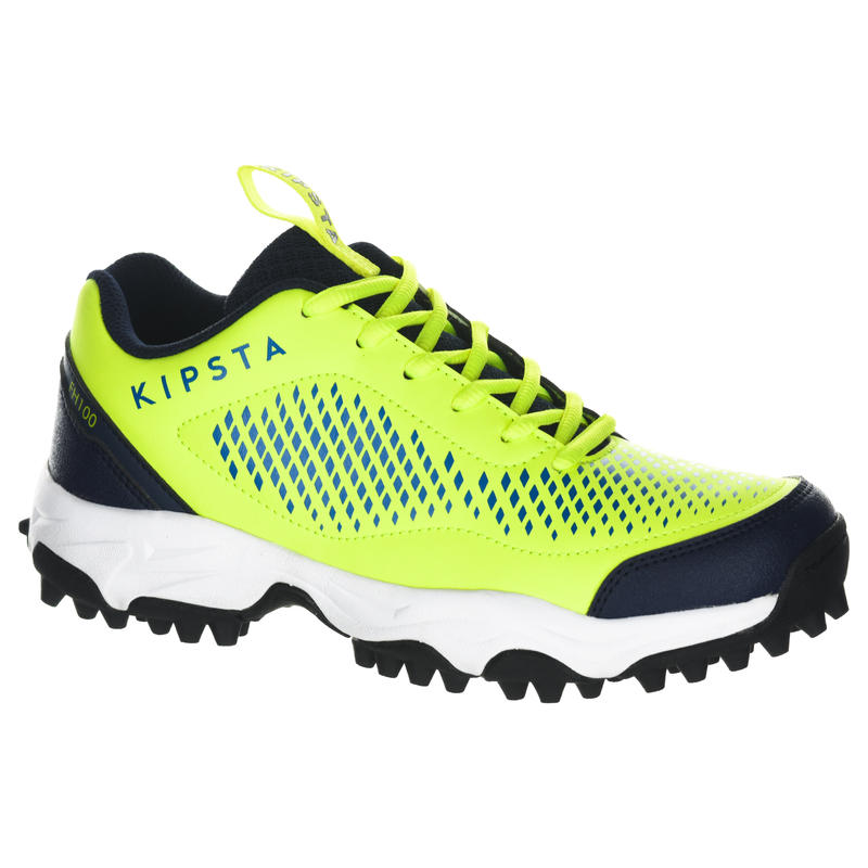 292d7e16f FH100 Kids' Low to Medium Intensity Field Hockey Shoes - Yellow