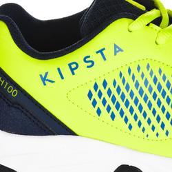 Zapatillas de hockey sobre hierba niños intensidad baja a media FH100 amarillo