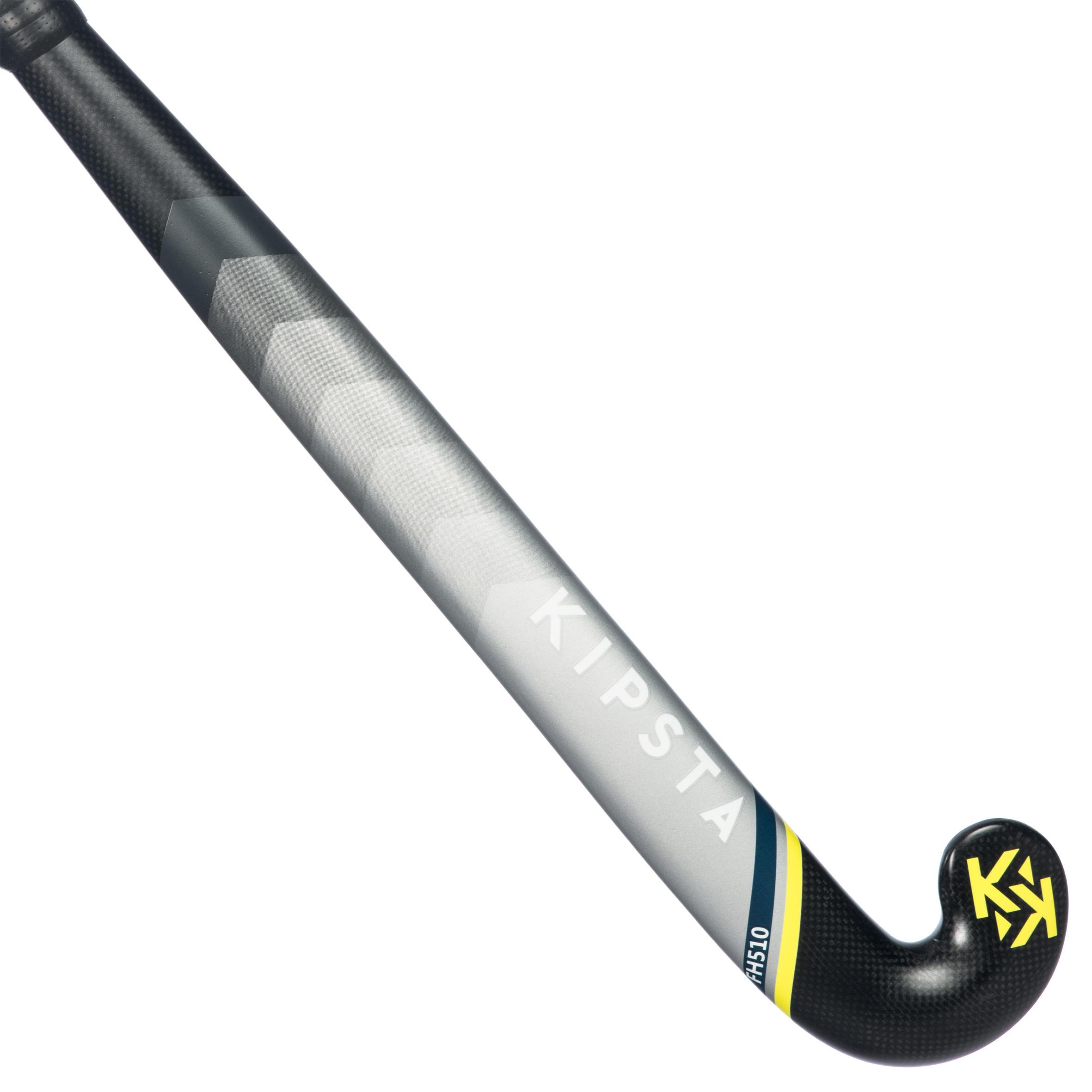 Stick de hockey sur gazon adulte confirmé lowbow 50 carbone fh510 jaune korok