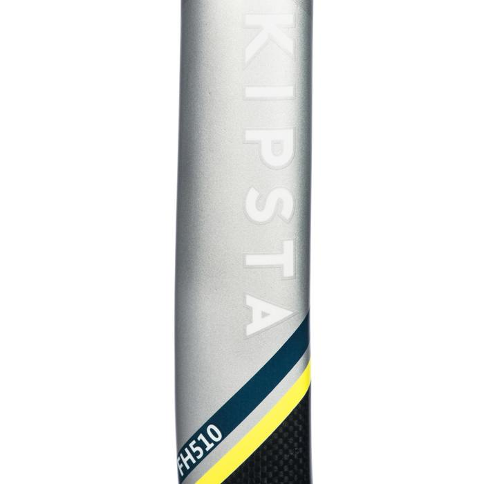 Stick de hockey sur gazon adulte confirmé lowbow 50% carbone FH510 jaune
