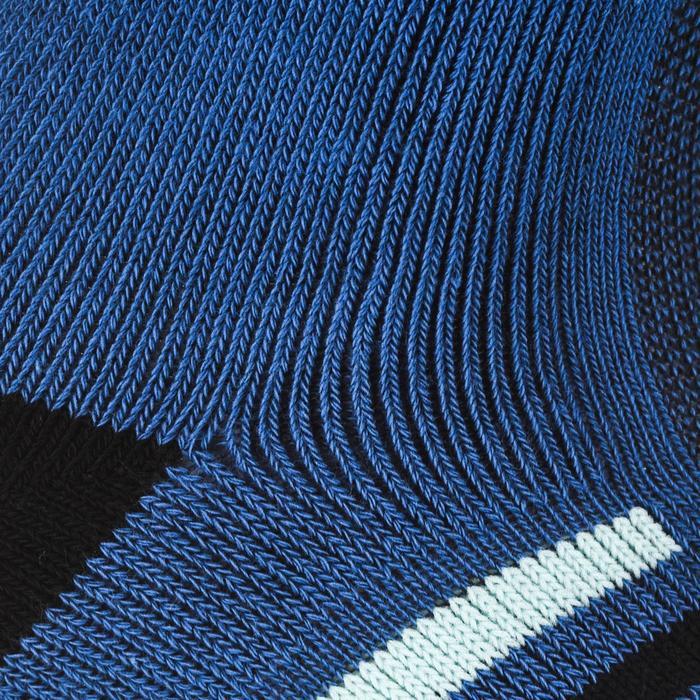 Hoge sportsokken voor volwassenen Artengo RS 500 blauw turquoise set van 4
