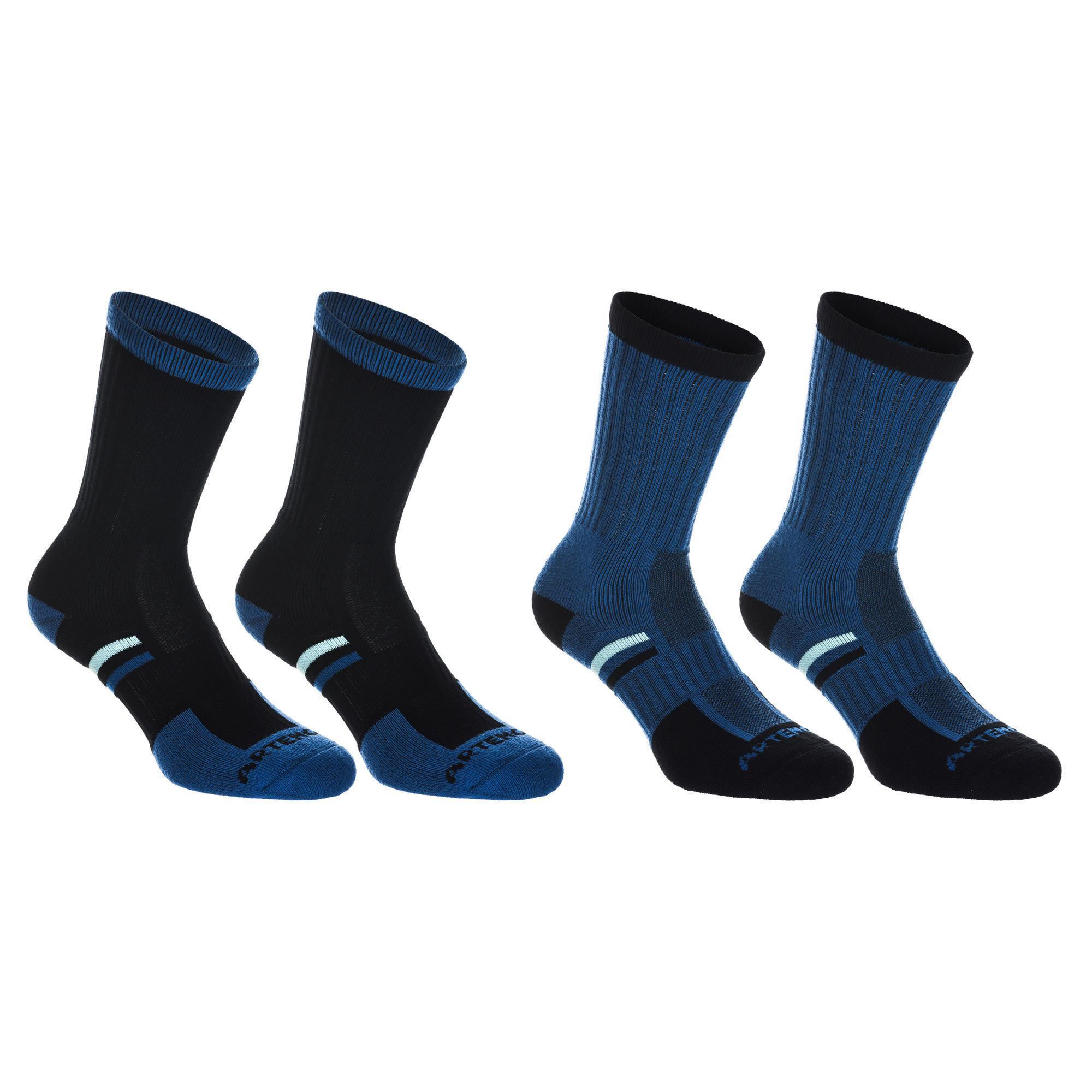 Tennissocken RS 500 High 4er Pack blau/türkis | Sportbekleidung > Funktionswäsche > Sportsocken | Blau | Pikee | Artengo
