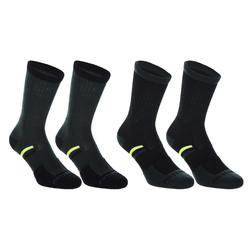 Tennissocken RS 500 High 4er-Pack schwarz/gelb