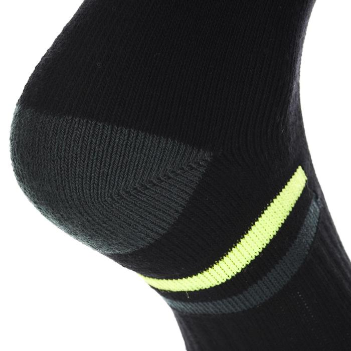 Hoge sportsokken voor volwassenen Artengo RS 500 zwart geel set van 4