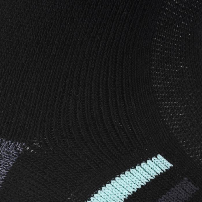Hoge sportsokken voor volwassenen Artengo RS 500 zwart turquoise set van 4