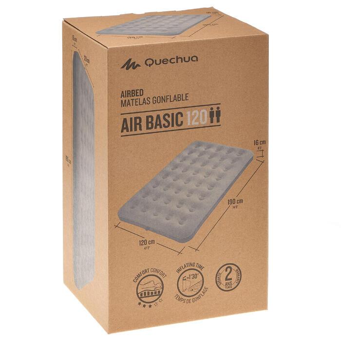 MATELAS DE CAMPING GONFLABLE AIR BASIC | 2 PERSONNES - LARGEUR 120 CM