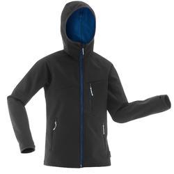 Hike 900 Boy's Softshell Hiking Jacket - Black