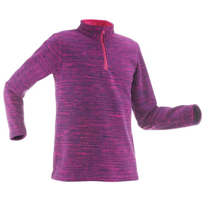 Fleecepullover Bergwandern MH120 Kinder violett