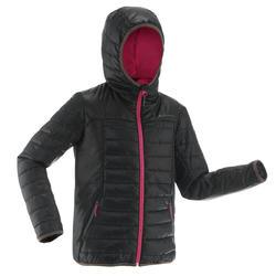 Wattierte Jacke Wandern MH500 Kinder 128-164cm schwarz/rosa
