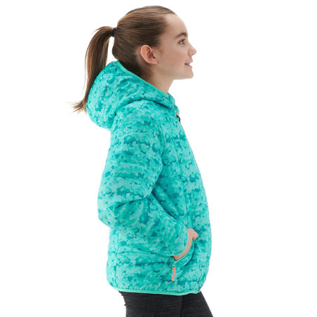 MH500 Girls' Hiking Padded Jacket - Ceramic Print