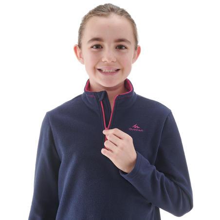 Children Ages 7-15 Hiking Fleece Sweater MH100 - NAVY