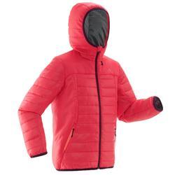 MH500 青少年女款健行保暖外套 - 粉色