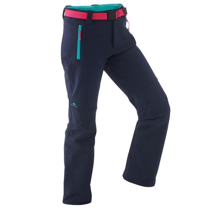 Pantalón de senderismo júnior MH 550 azul