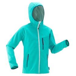 Veste softshell de randonnée enfant MH 900 bleue
