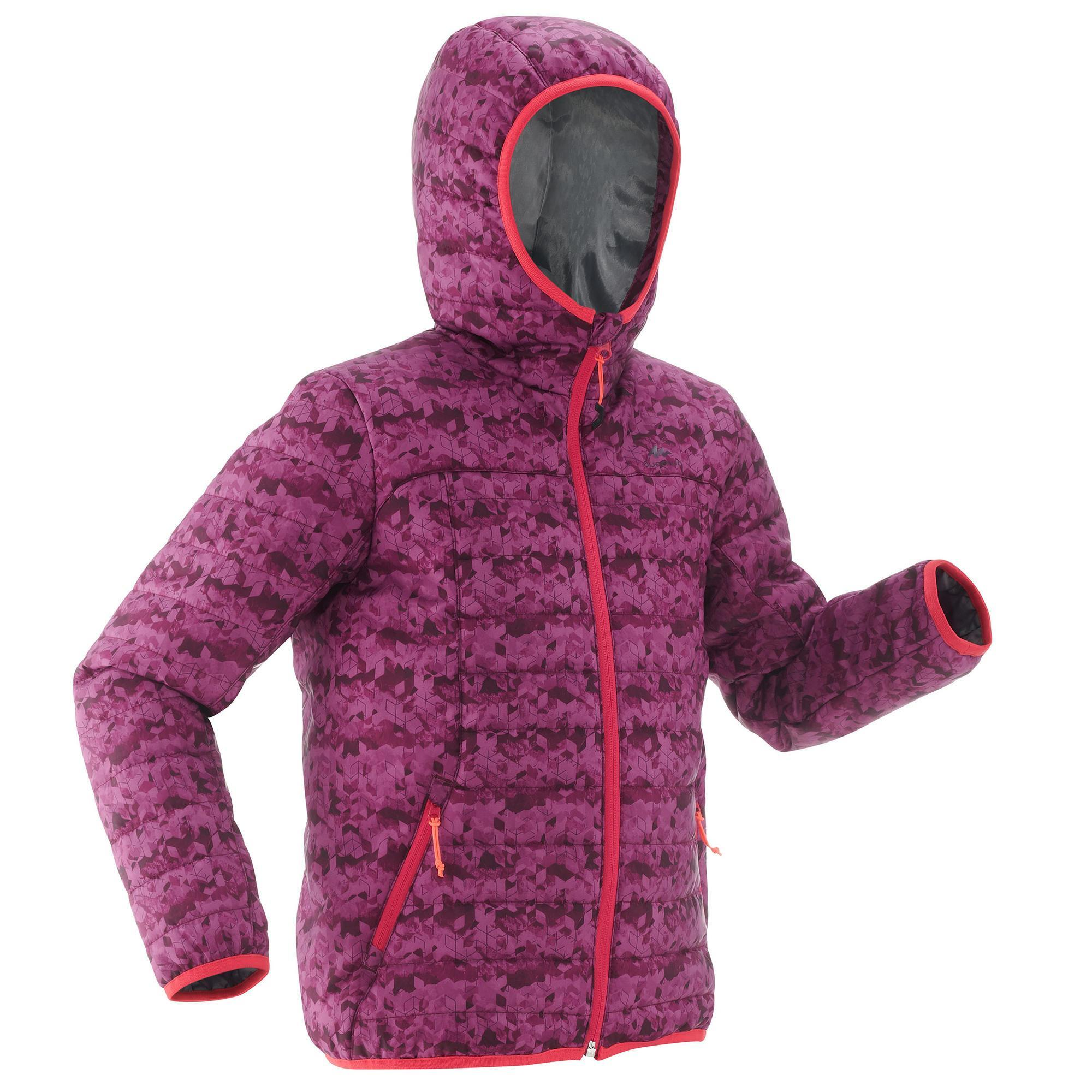 Jungen,Kinder Wattierte Jacke MH 500 Kinder violett | 03608439427459