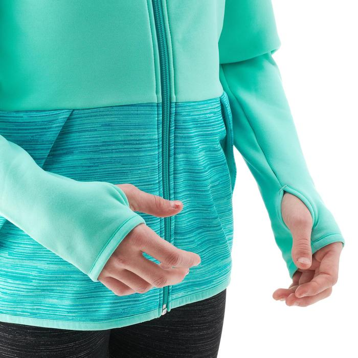 Polaire de randonnée enfant MH500 vert turquoise print 7- 15 ans