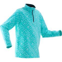 Hike 100 男童登山刷毛罩衫 - 藍色