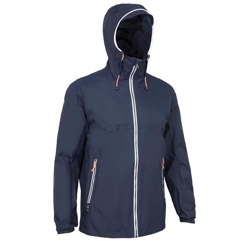 Men's waterproof windproof sailing jacket 100 - Navy