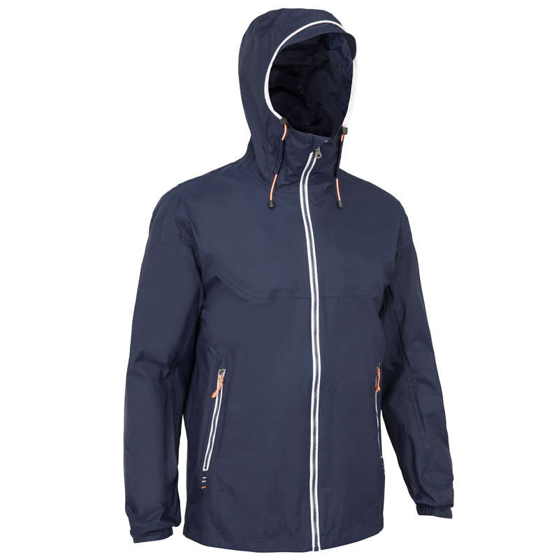 CRUISING RAINY WEATHER MAN CLOTHES Sailing - Sailing 100 M Jacket - Navy TRIBORD - Sailing Clothing