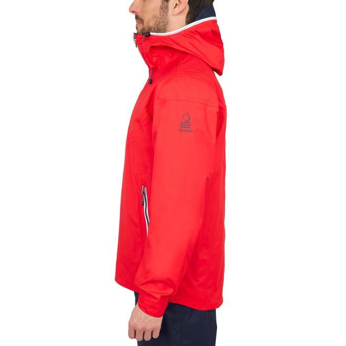 Chaqueta Impermeable Barco Vela Tribord Sailing 100 Hombre Rojo Capucha