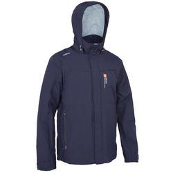 100 Men's Waterproof Sailing Jacket - Grey Blue