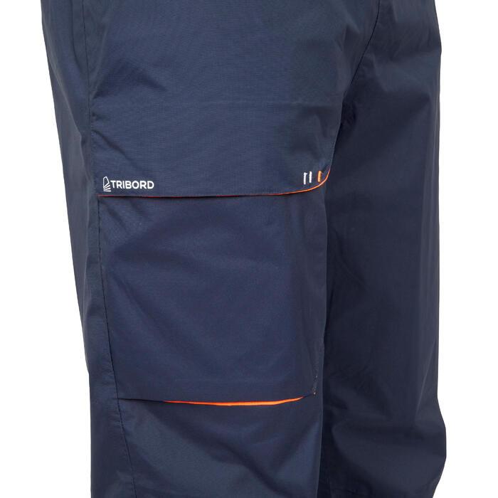 男款防水航海雨褲Sailing 100-軍藍色