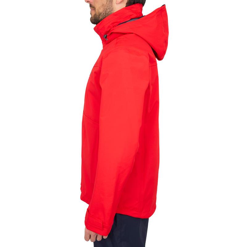 Chaqueta impermeable de vela hombre 100 rojo