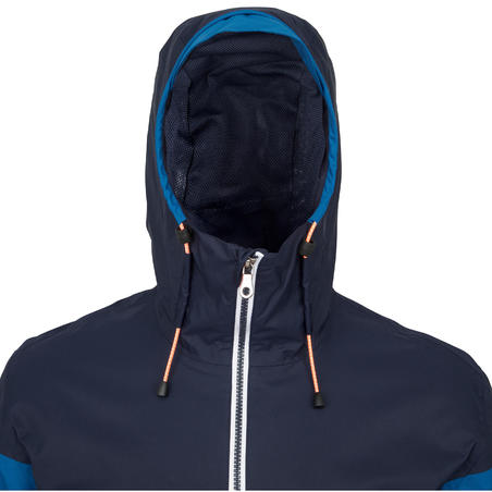 Vyriška neperšlampanti striukė buriavimui 100, mėlyna / mėlyna