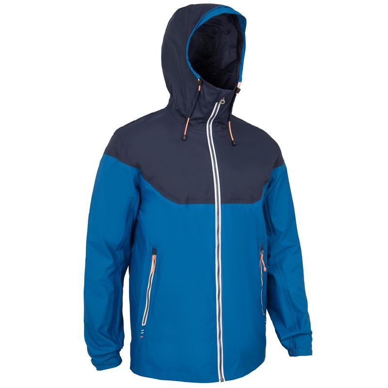 Men's waterproof sailing jacket 100 - Blue Blue
