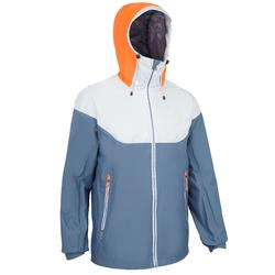 Sailing 100 Men's Waterproof Sailing Jacket - Grey Orange