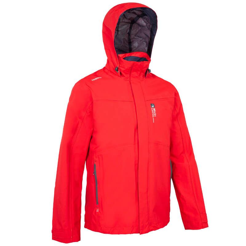 CRUISING RAINY WEATHER MAN CLOTHES Sailing - Sailing 300 Men's Jacket - Red TRIBORD - Sailing Clothing