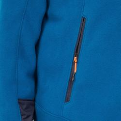 Warme schippersfleece Sailing 500 voor heren blauw/blauw