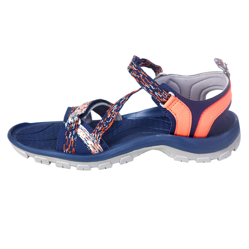 46b86a985b61e7 Arpenaz 100 Women s Backpacking Sandal Blue Print