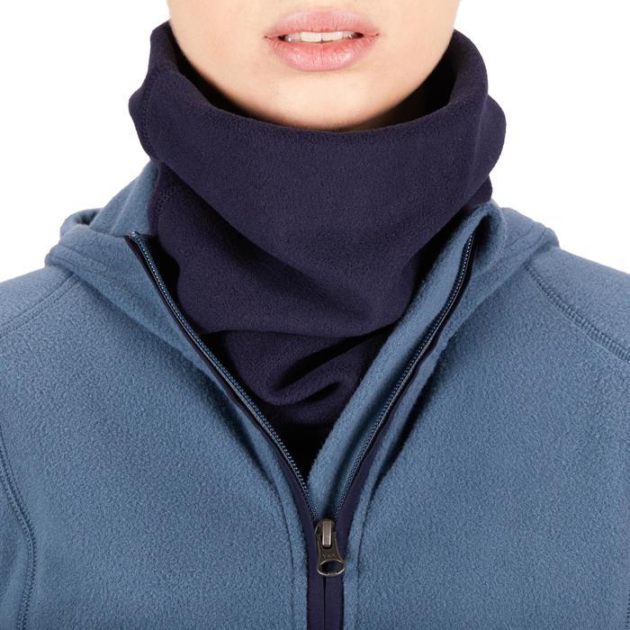 Braga cuello y pechera de fibra polar equitación adulto azul marino