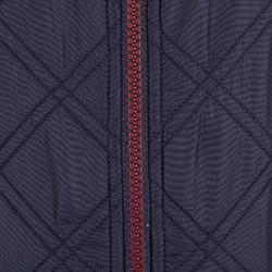 Fleecejacke 500 Warm Damen marineblau/bordeaux