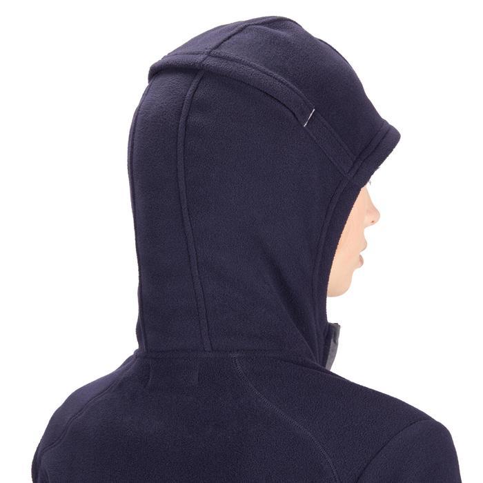 Reitfleecejacke mit Kapuze 2-in-1 Damen marineblau