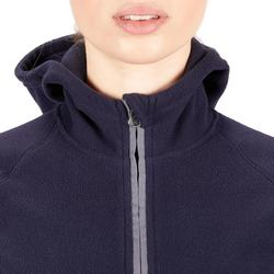 Reitfleecejacke mit innovativer Kapuze 2-in-1 Damen marineblau