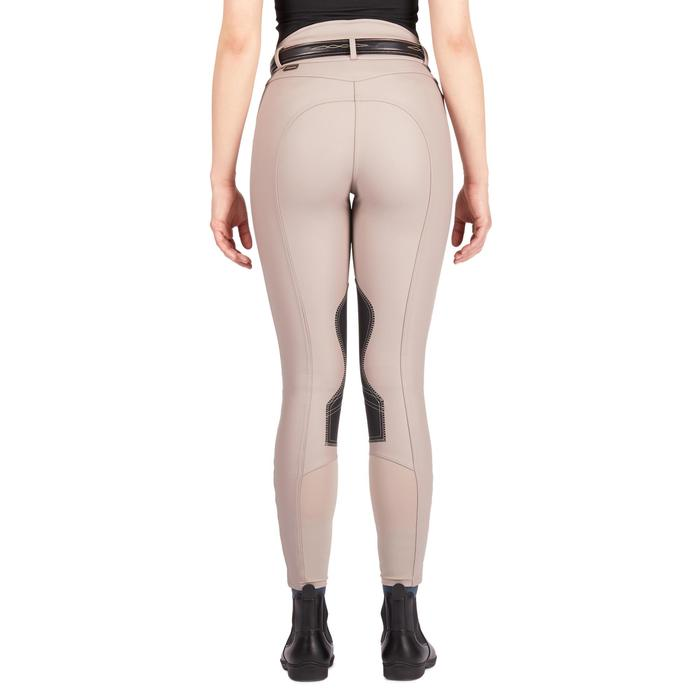 Pantalón Equitación Fouganza Kipwarm Mujer Beige Cálido Impermeable y Transpirab