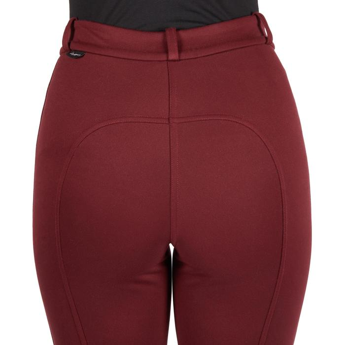 Pantalon chaud équitation femme ACCESSY bordeaux