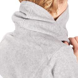 Reitfleecejacke mit Kapuze 2-in-1 Damen grau meliert