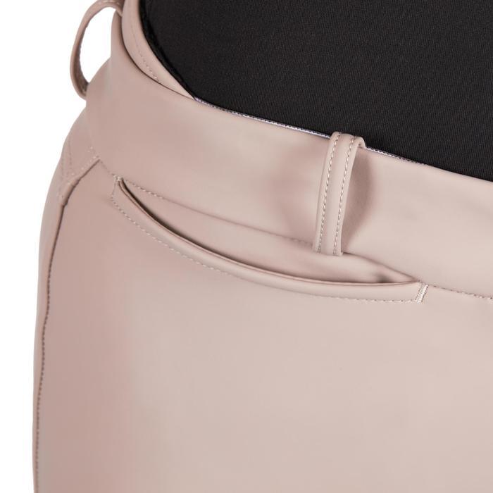 Waterdichte, warme en ademende rijbroek voor dames Kipwarm beige