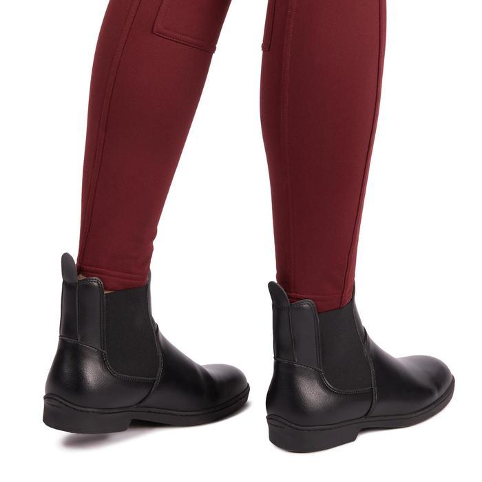 Pantalón cálido de equitación para mujer ACCESSY burdeos