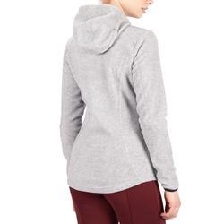 2-in-1 fleece hoodie voor dames ruitersport grijs