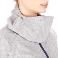 2-in-1 Women's Horse Riding Hooded Fleece - Mottled Grey