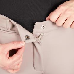 Pantalon chaud imperméable et respirant équitation femme KIPWARM beige