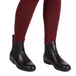 Pantalon chaud équitation femme 100 WARM bordeaux