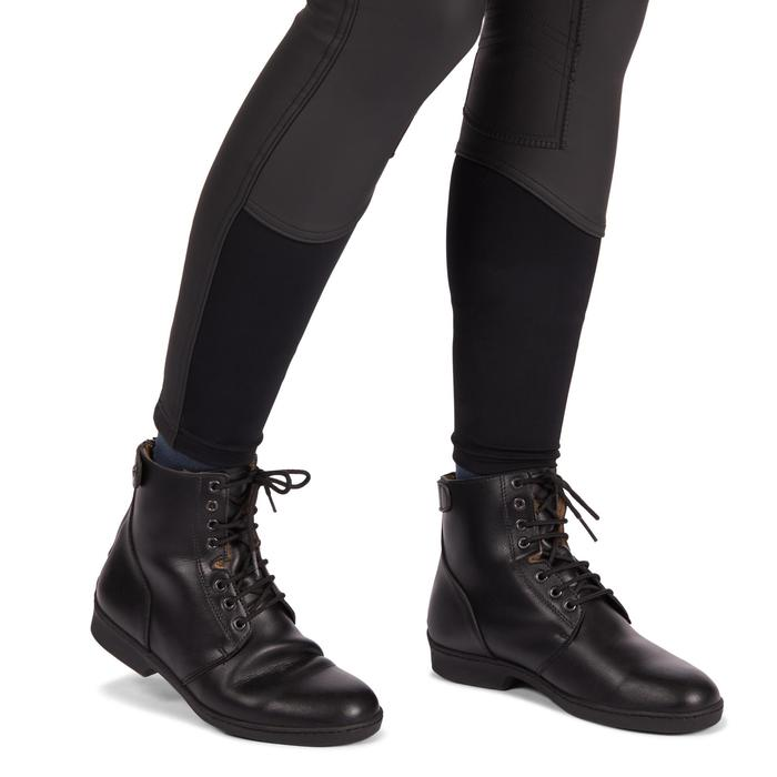 Pantalón Equitación Fouganza Kipwarm Mujer Negro Cálido Impermeable y Transpirab